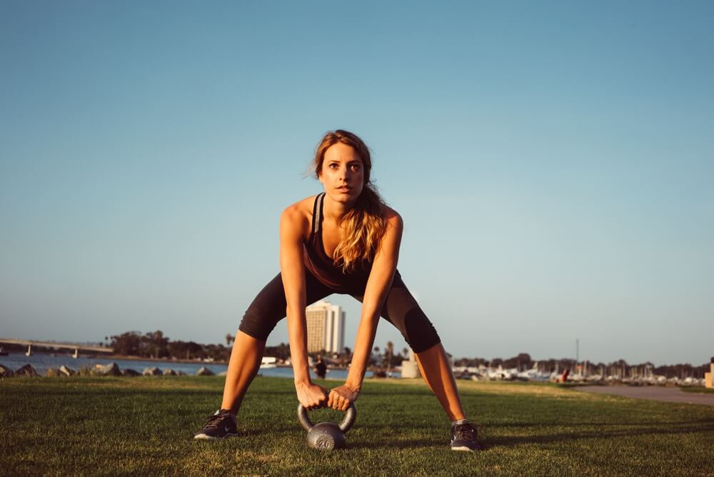 Squats to reduce cellulite in San Diego.