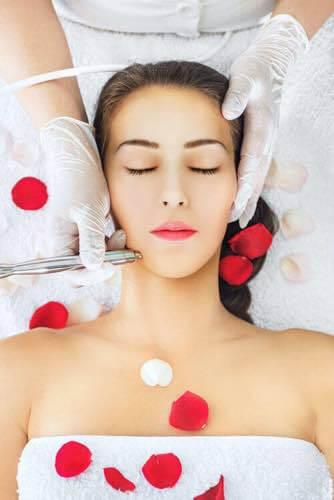Microdermabrasion skin treatment in San Diego, California.