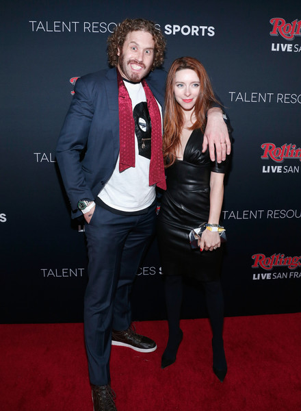 Actors T. J. Miller (L) and Kate Gorney (R) attend Rolling Stone LIVE San Francisco party presented by Talent Resources Sports