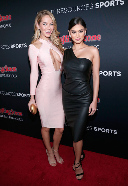 Miss USA 2015 Olivia Jordan (L) and Miss Universe 2015 Pia Wurtzbach (R) attend Rolling Stone LIVE San Francisco party presented by Talent Resources Sports