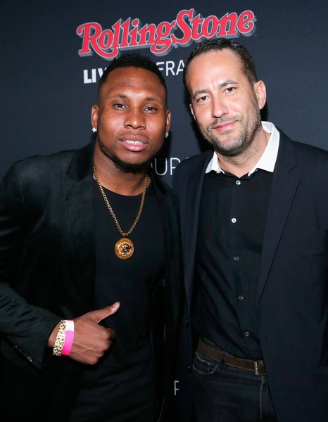 NFL player Robert Golden (L) and TRS CEO David Spencer attend Rolling Stone LIVE San Francisco party presented by Talent Resources Sports