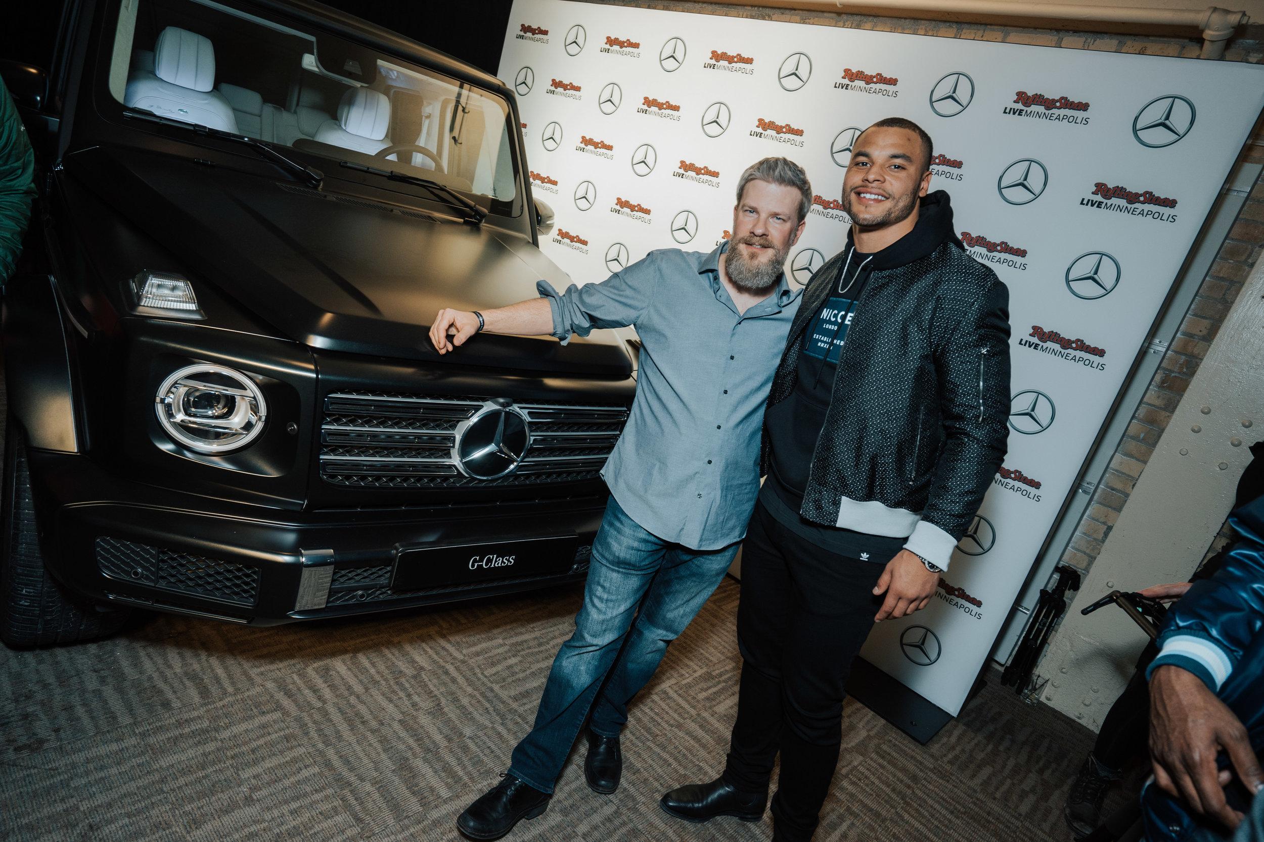Dak Prescott at Mercedes-Benz activation