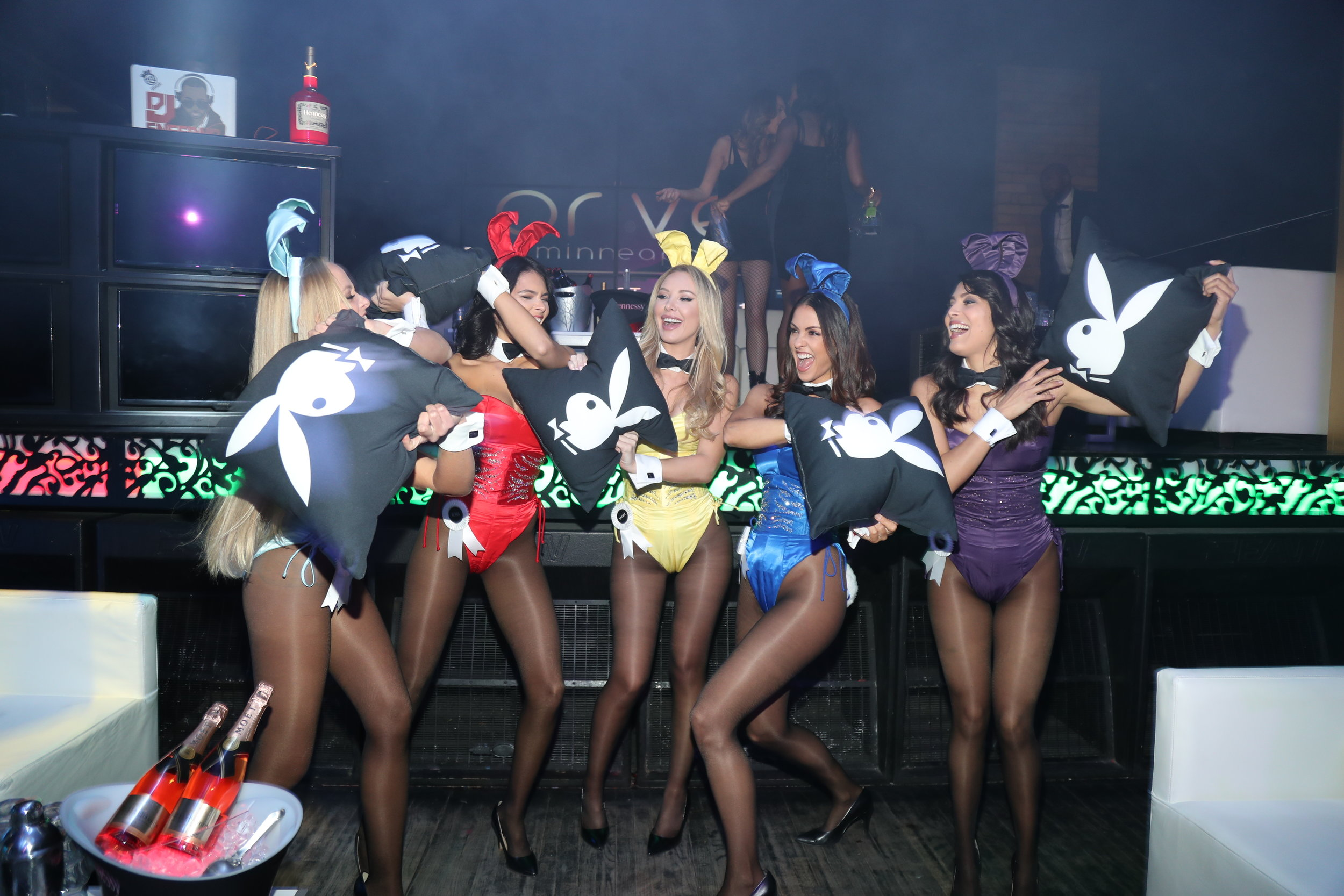 Playmates at Playboy's Big Game Party