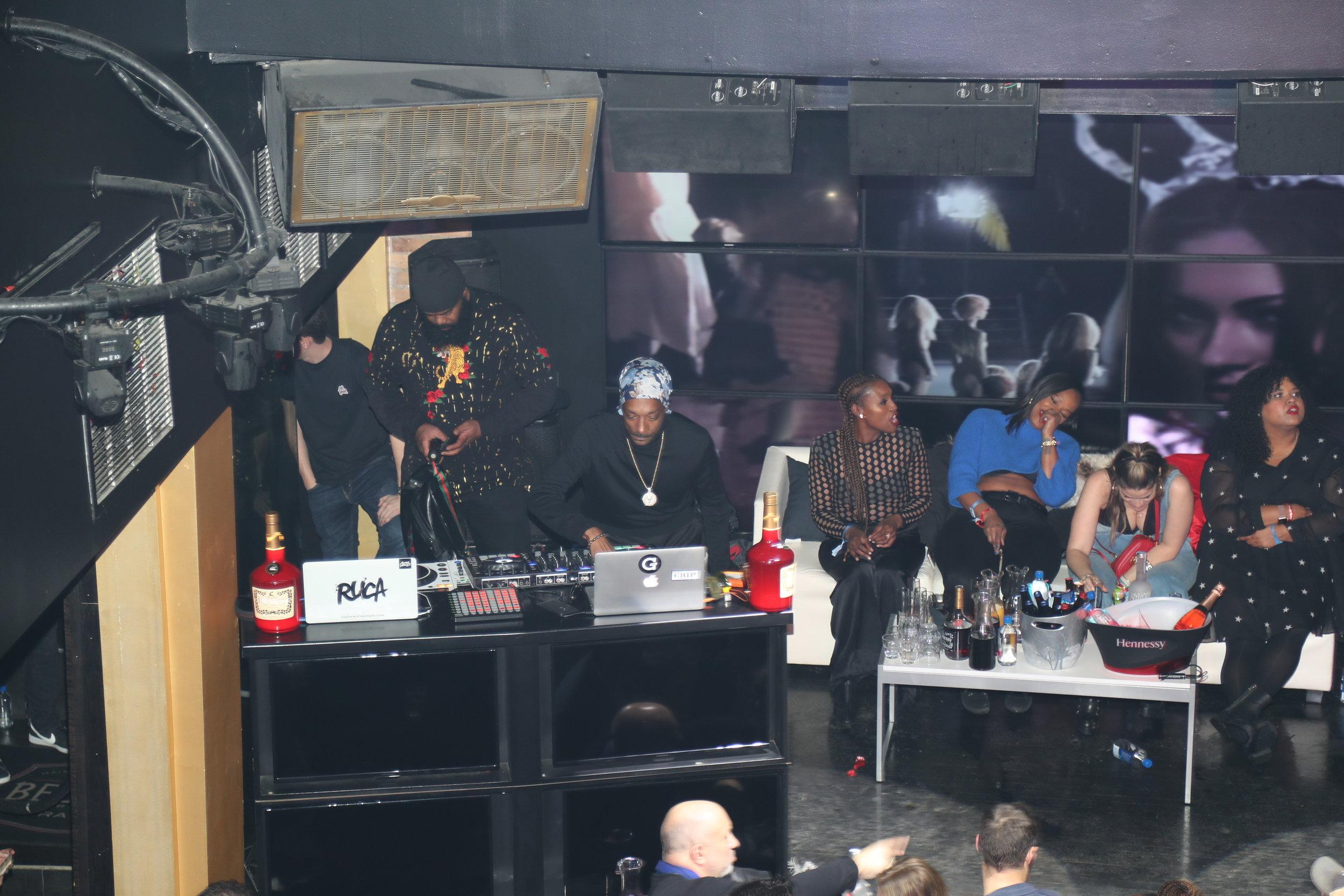 Snoop Dogg DJing at Playboy's Big Game Party