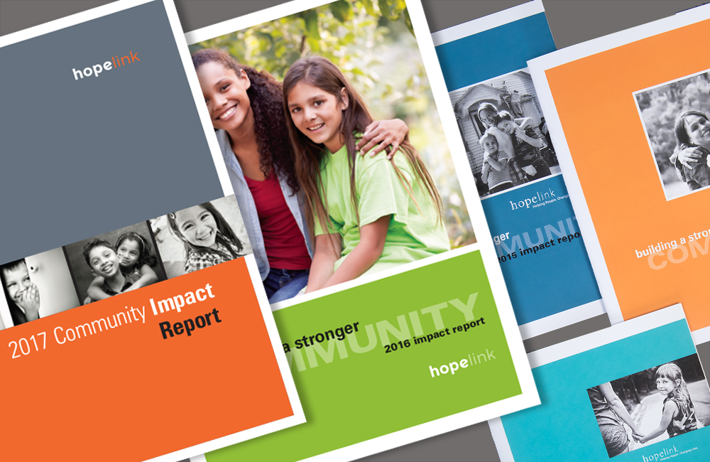 Hopelink Annual Report covers
