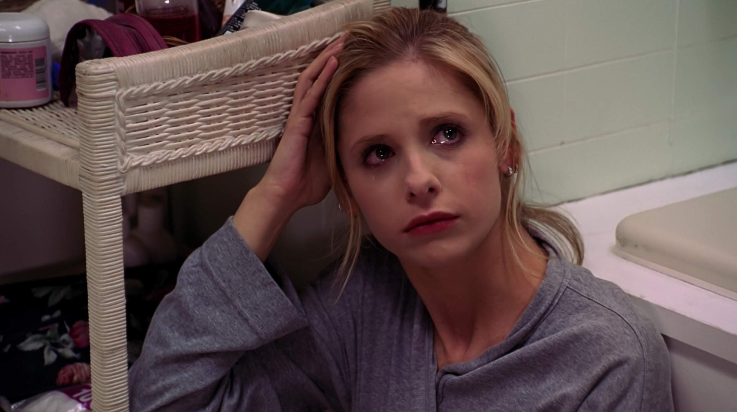 "Buffy Summers in ""Seeing Red."""