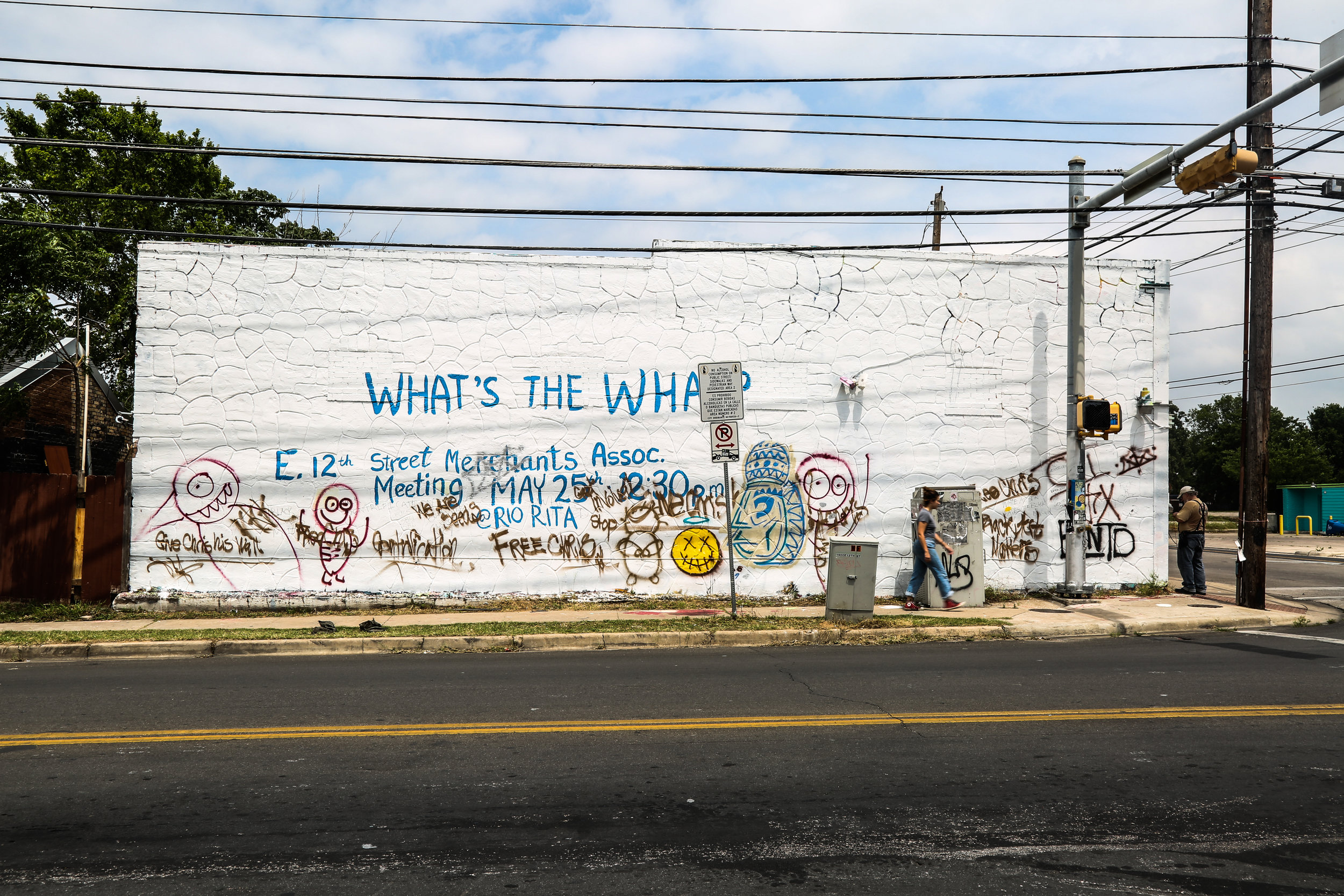 The 12th & Chicon mural, shortly after it was painted over. Photo By: Mason Endres