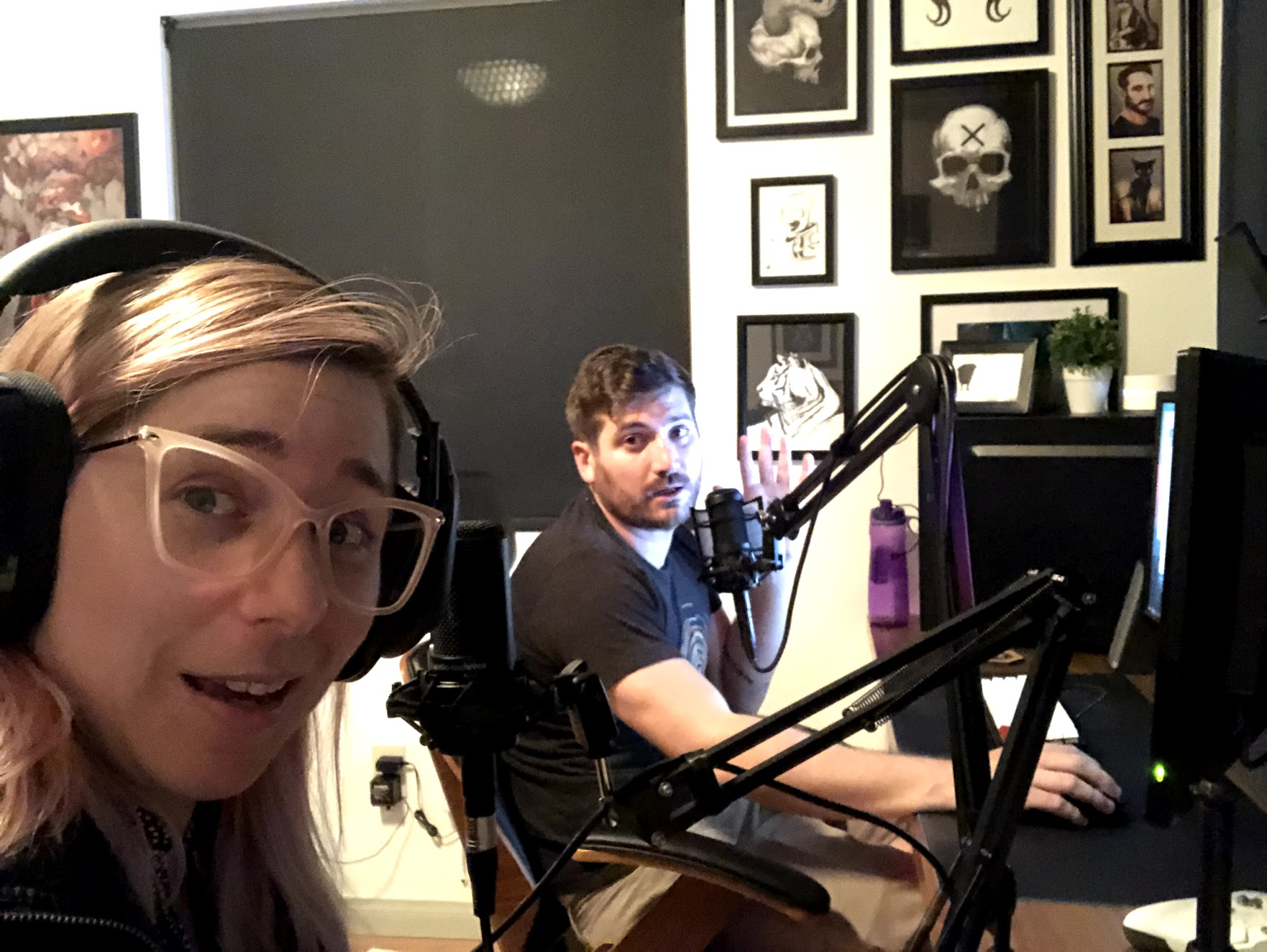 BTS with Adam Kovic recording the episode in our home office!
