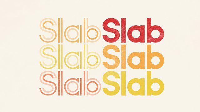 Mid-century meets modern.  Branding work for @slabaudio