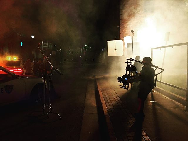 Night exteriors are fun and sleepy. // 📷 @michaelshums  #film #onlocation #downtown #city #marketing #content #creative #commercial #advertising #agencylife #filmlife #filmbase #city #night #police #riot #riotslc #weareriot