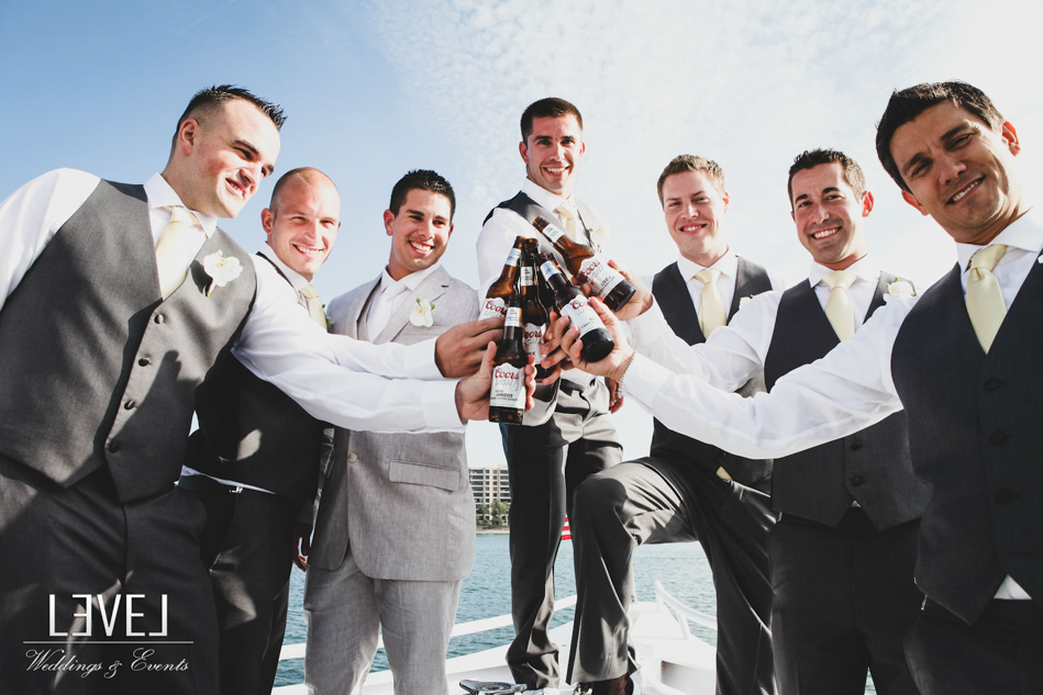 orange county wedding event planner groomsmen