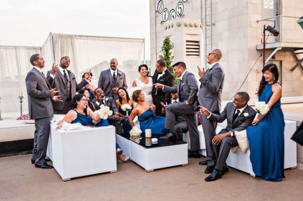 orange county wedding event planner laughing socializing