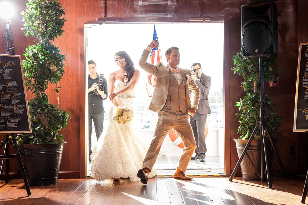orange county wedding event planner bride and groom entrance