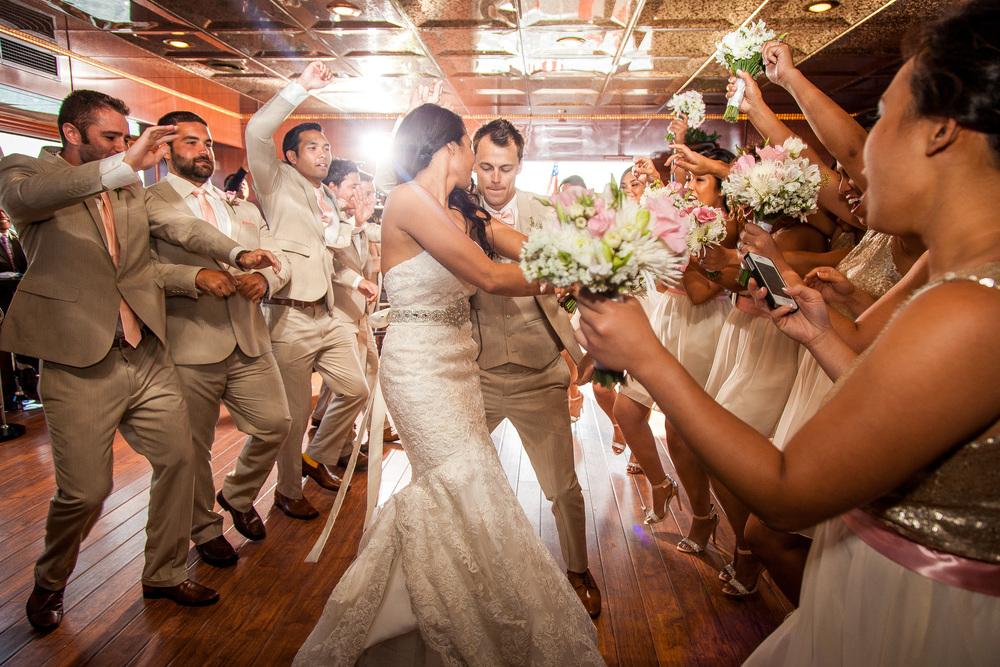 orange county wedding event planner bride and groom danceoff