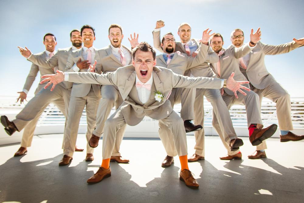 orange county wedding event planner groom with groomsmen