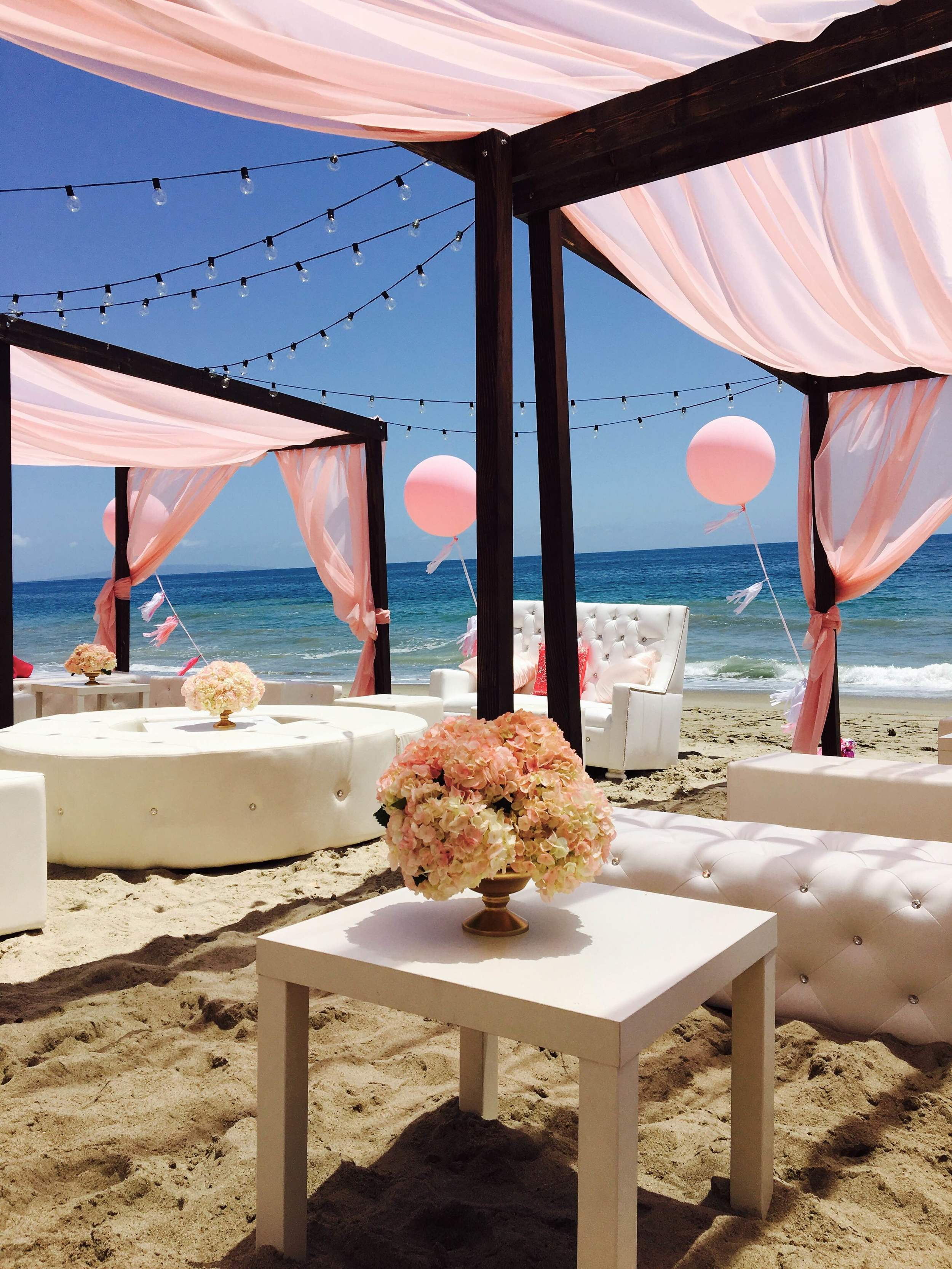 orange county social beach event planner wood cabanas