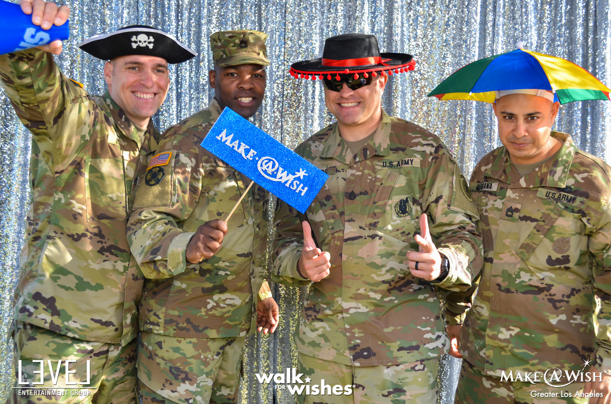 orange county charity social event planner make a wish us army