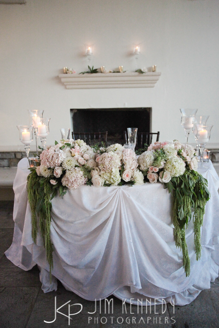 orange county wedding event planner custom couples table with floral
