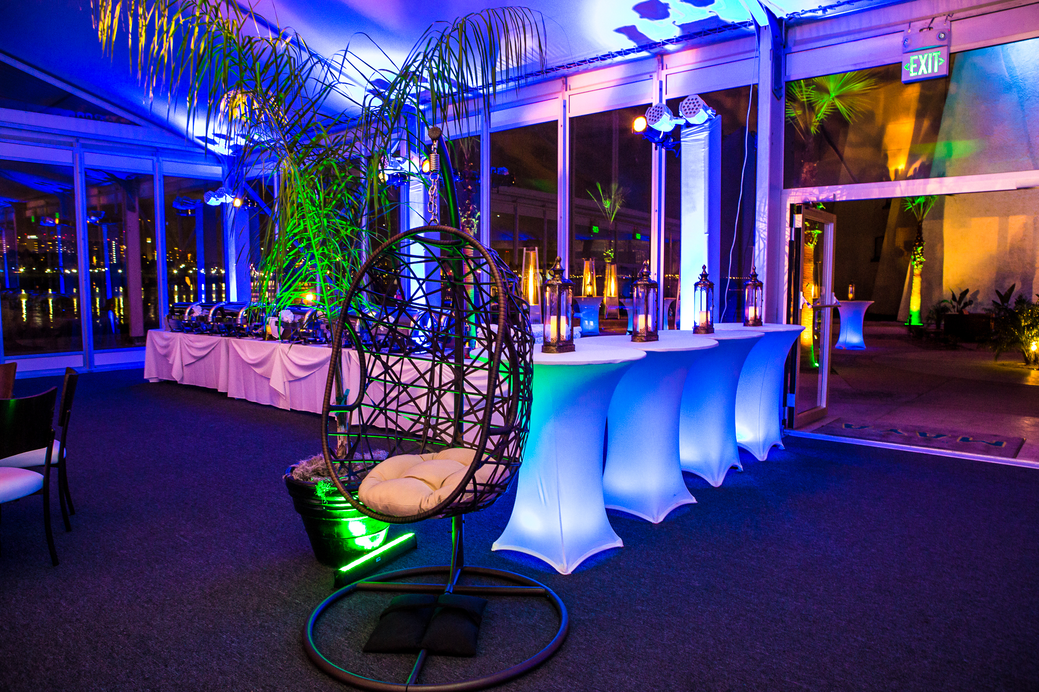 orange county corporate event planner custom swinging chair