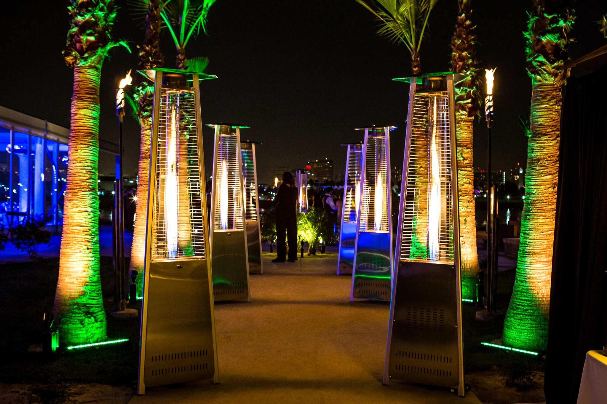 orange county corporate event planner torch outside heaters