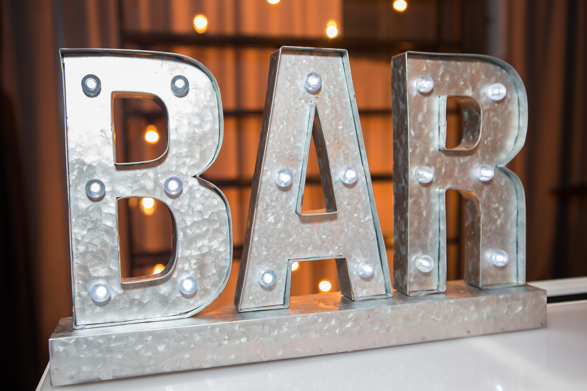 orange county corporate event planner bar sign