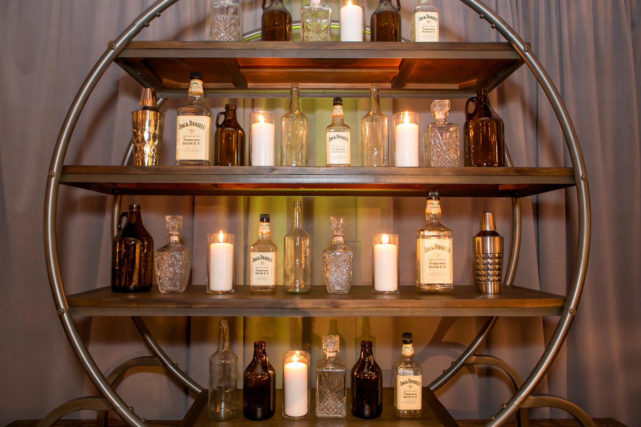 orange county corporate event planner bottle wall shelf