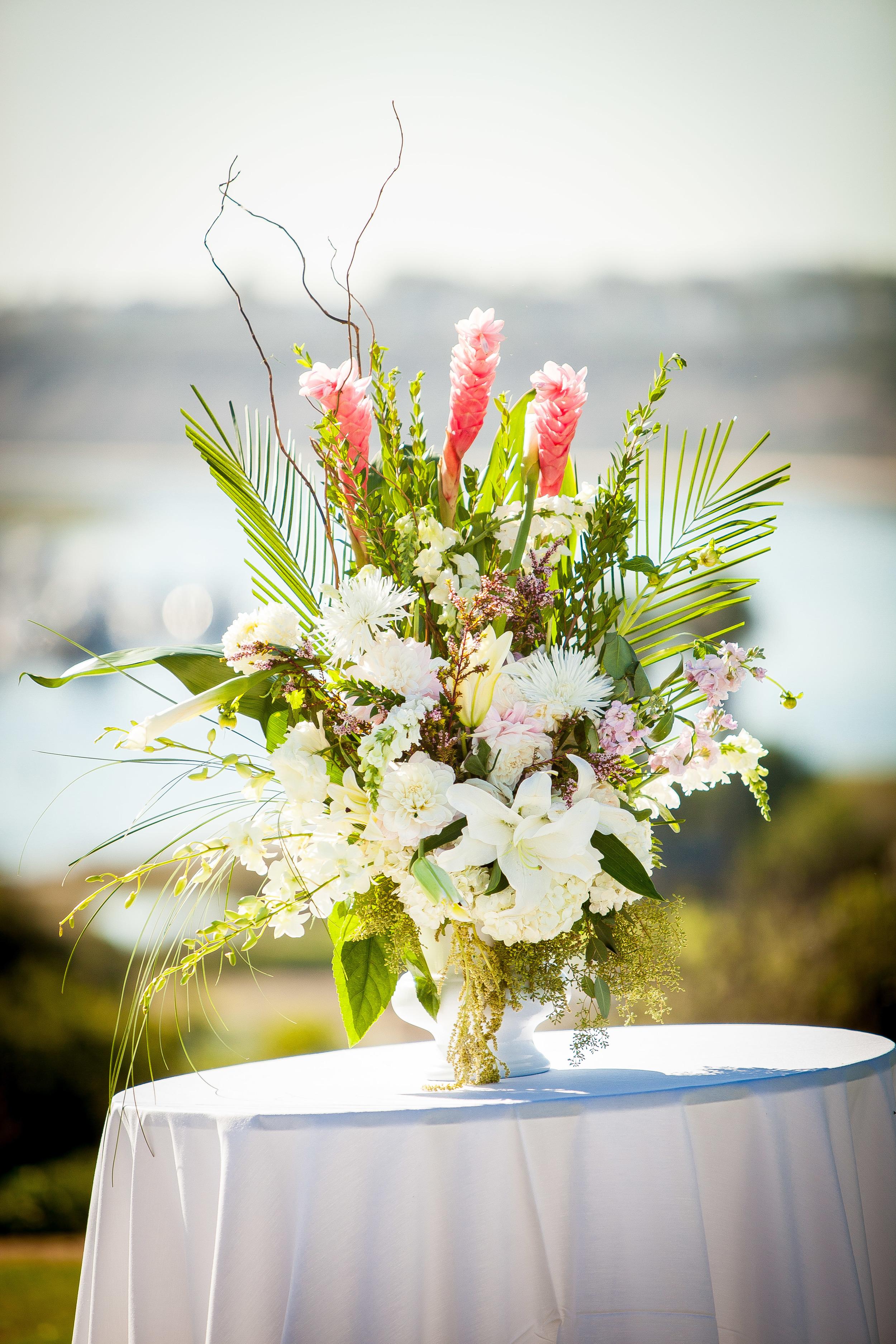 Newport Beach Marriott Wedding Planner tropical floral
