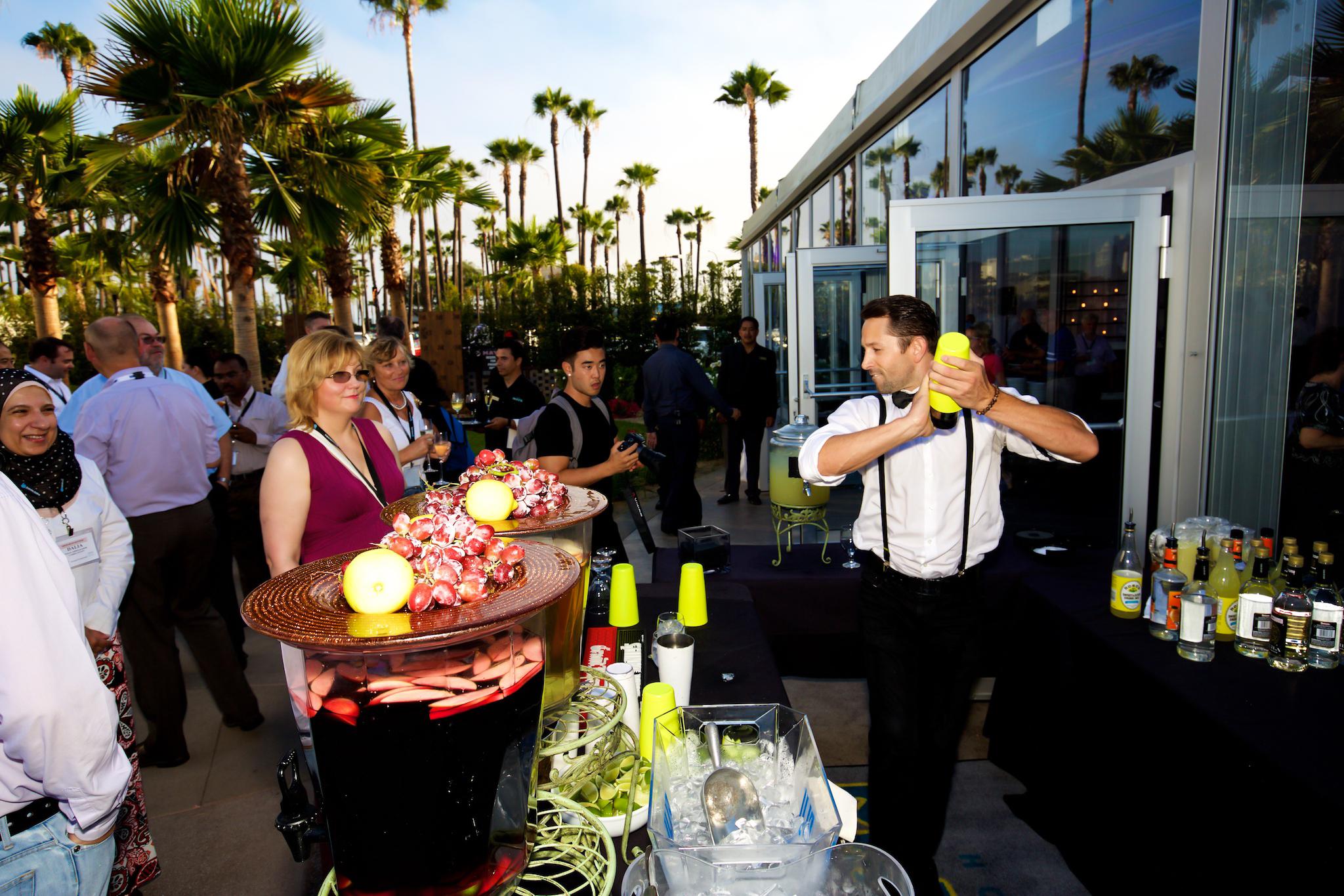 orange county corporate event planner flair bartender
