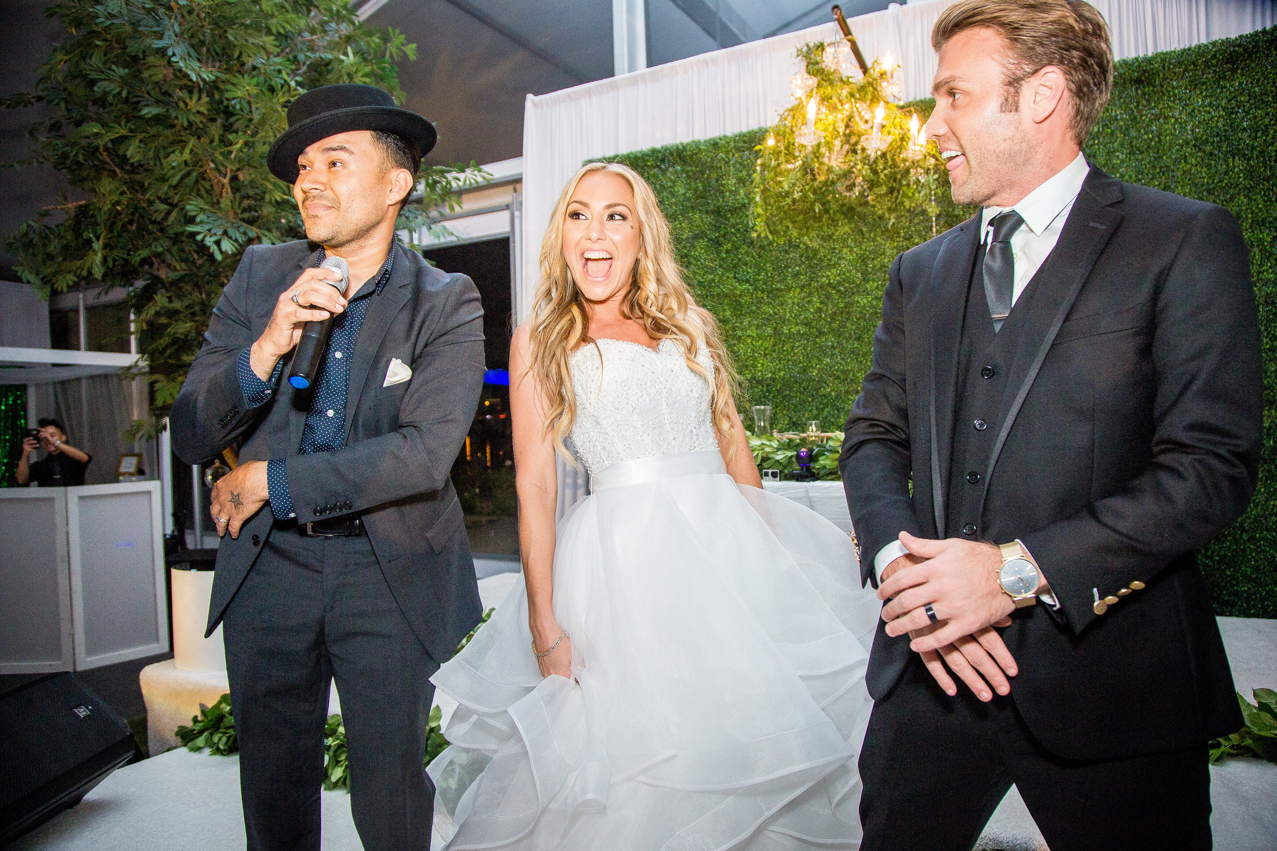Frankie J Performing at Wedding