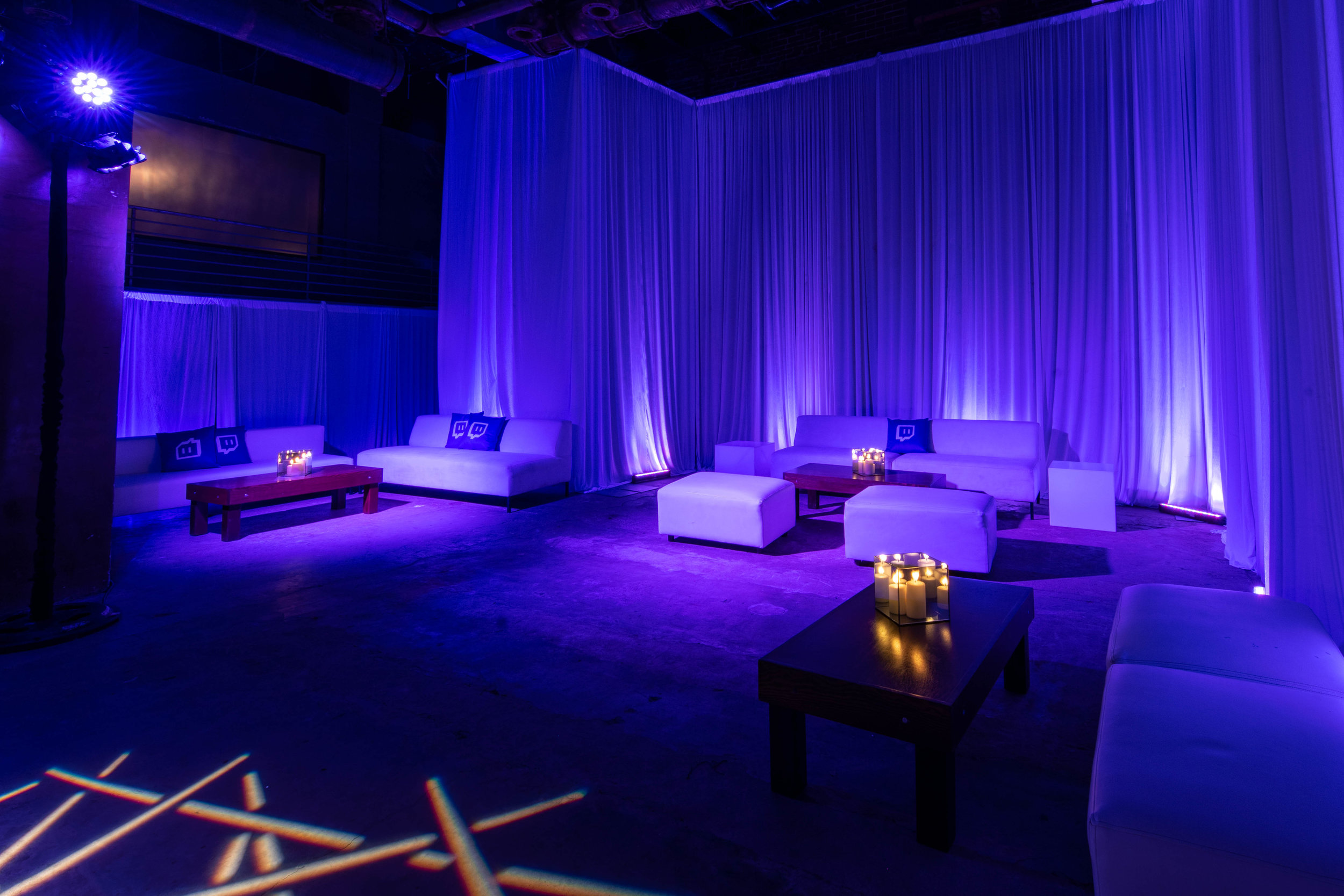 Corporate Event furniture and drapery