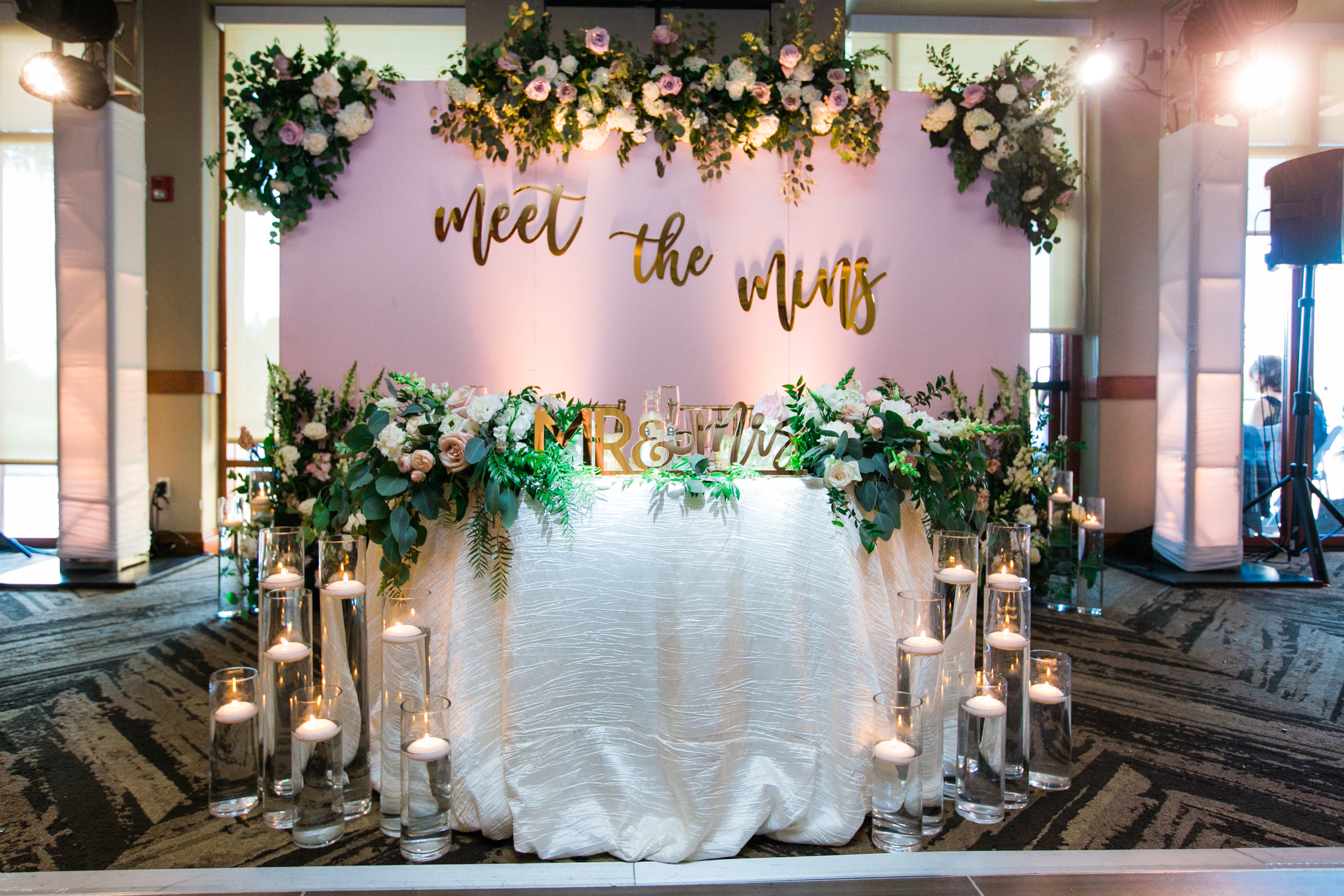 custom wedding sweetheart table backdrop