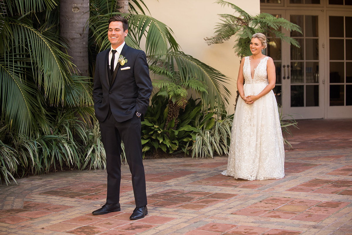ritz carlton laguna niguel first look location bride and groom