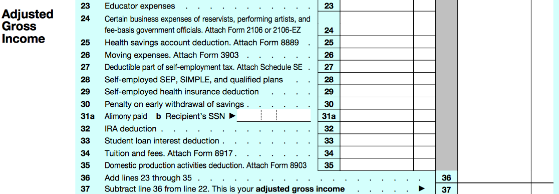 "Your ""Above-the-Line"" deductions used to determine AGI."