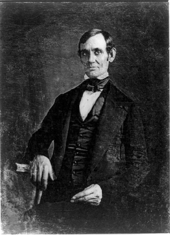 Daguerreotype of Congressman Abraham Lincoln, taken in 1846 by Nicholas H. Shepherd.