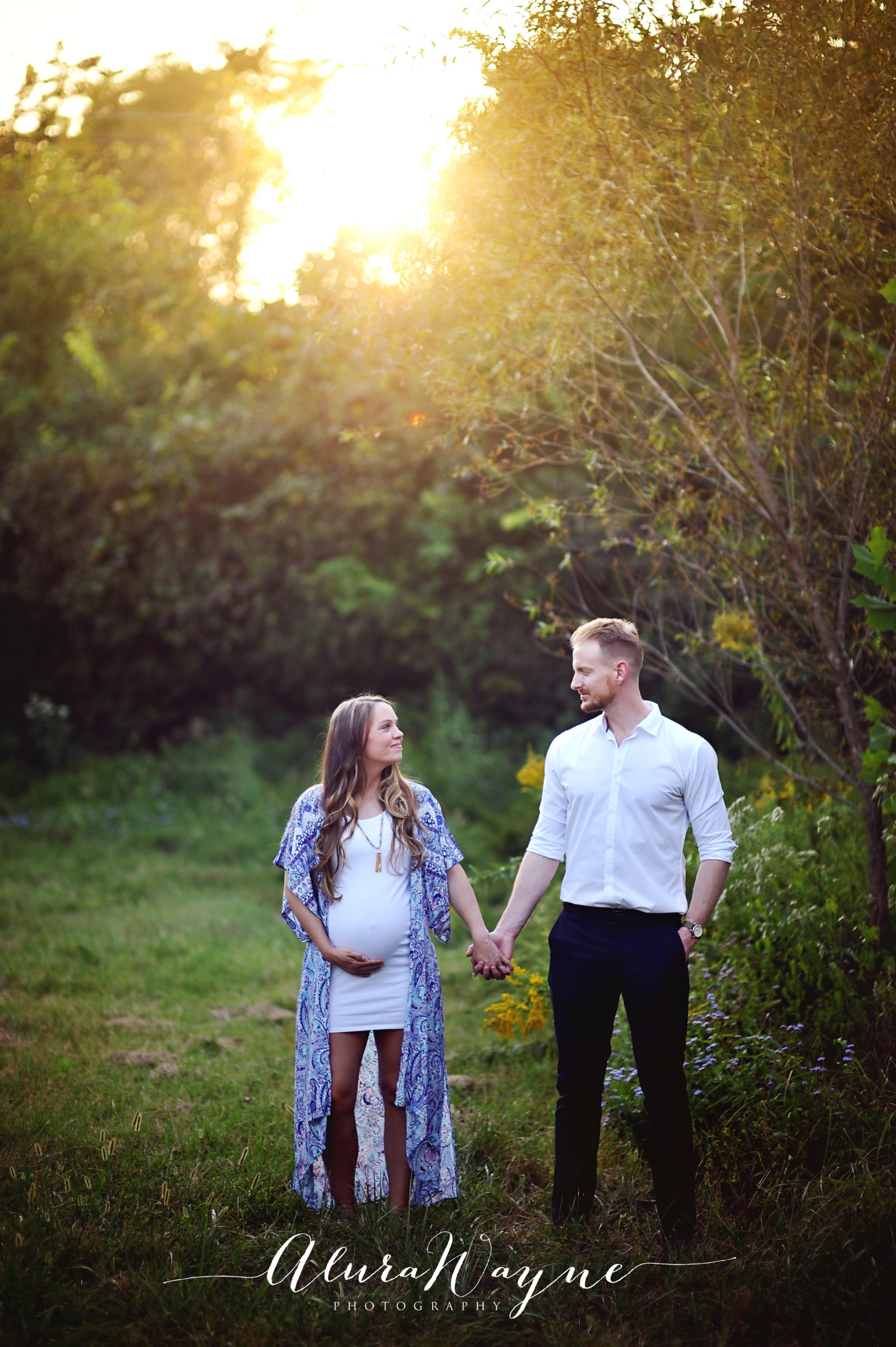nashville tn maternity husband and wife photo