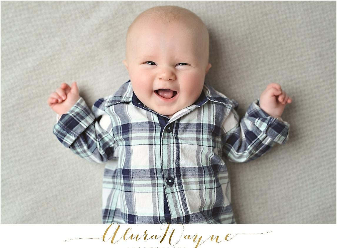 nashville, tn milestone session alurawayne photography baby boy 3 months old