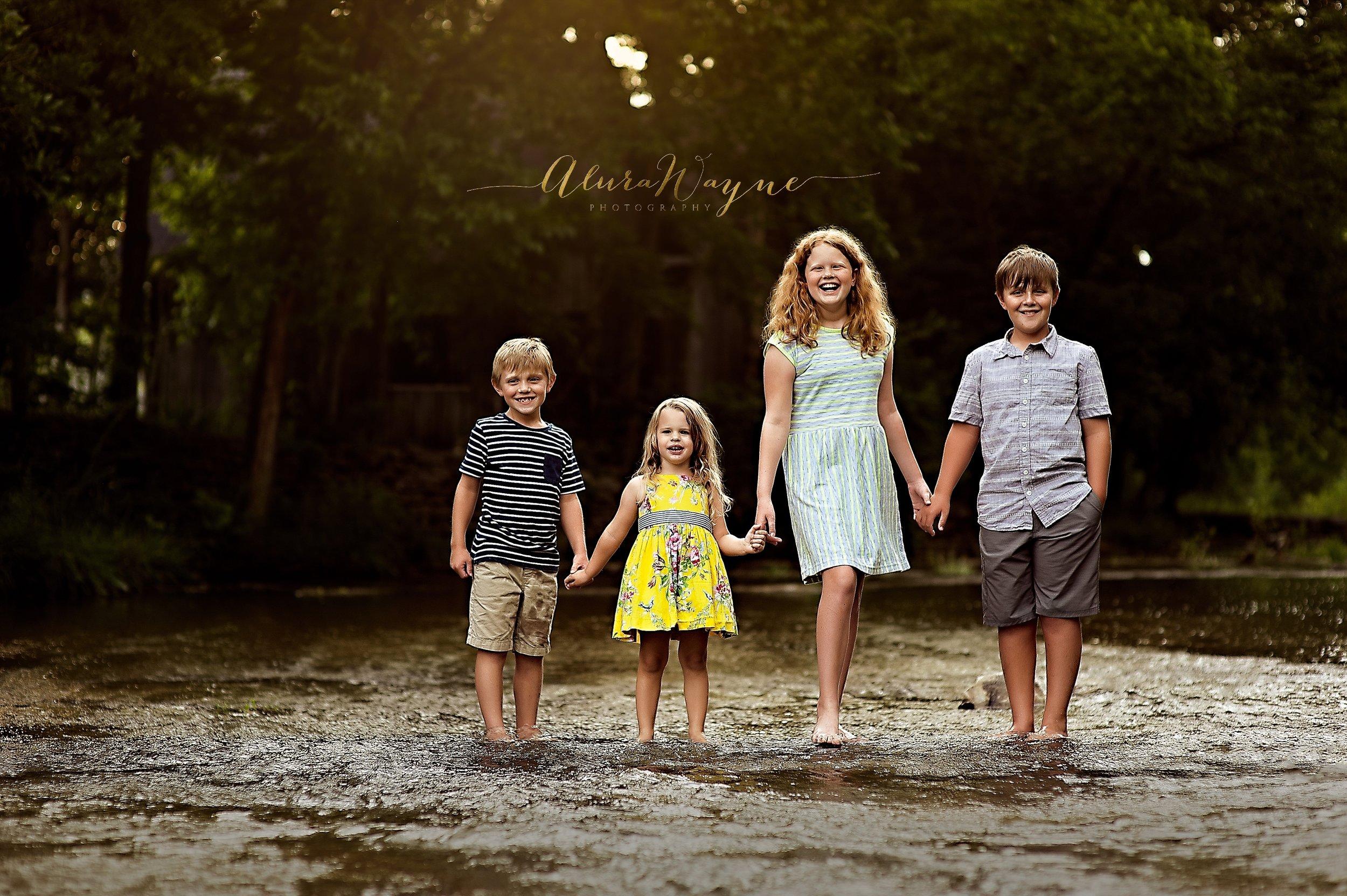 Our four beautiful children: Ayden, Elowen, Madeline, and Tilden.