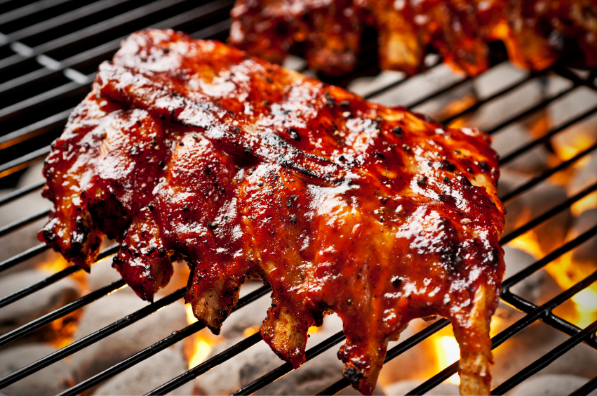 barbecue ribs lifestyle propane