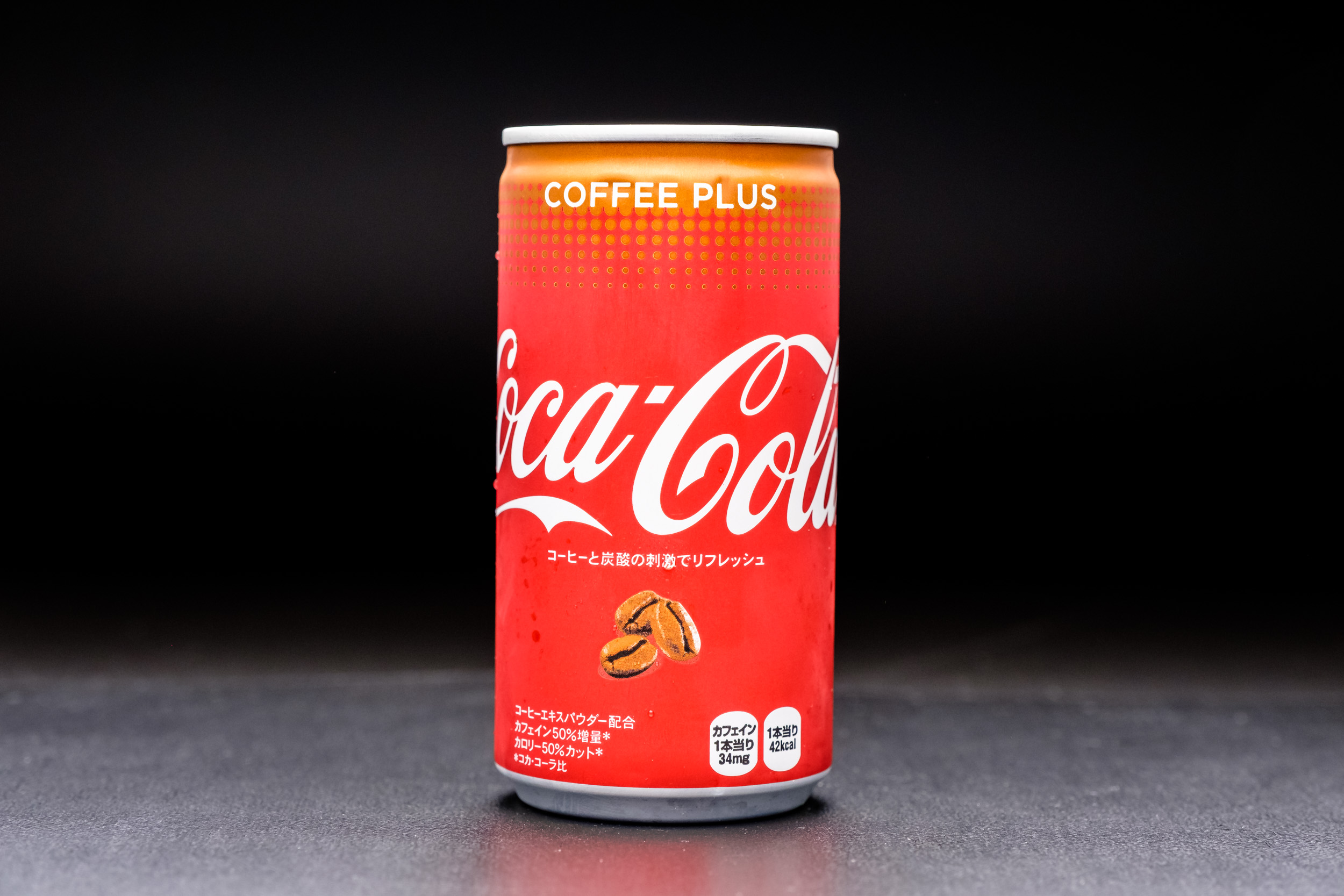 Coca-Cola Coffee Plus - notice the difference in the colour of the can