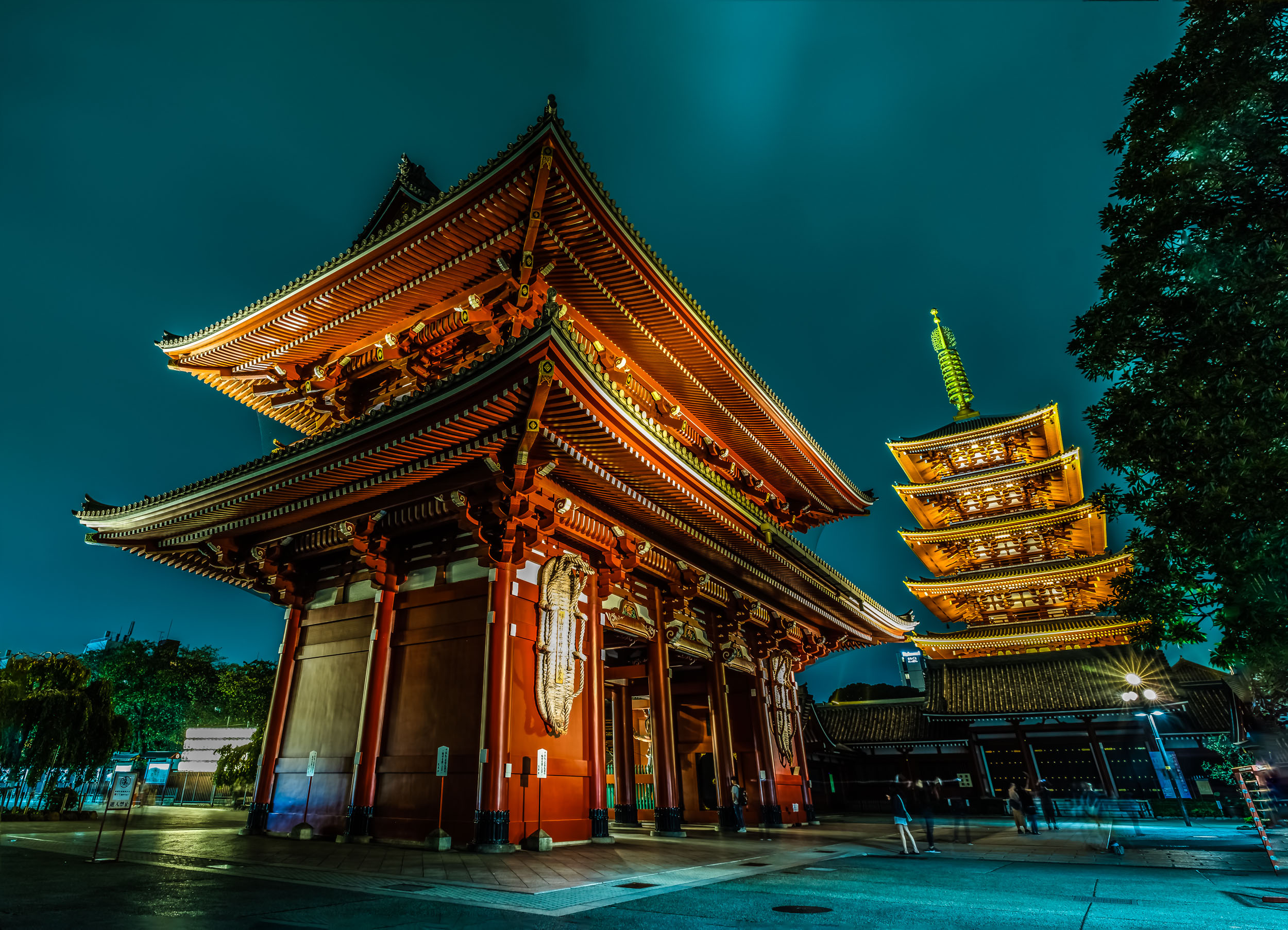 The Hozo gate and pagoda behind - this is a 4 shot panorama