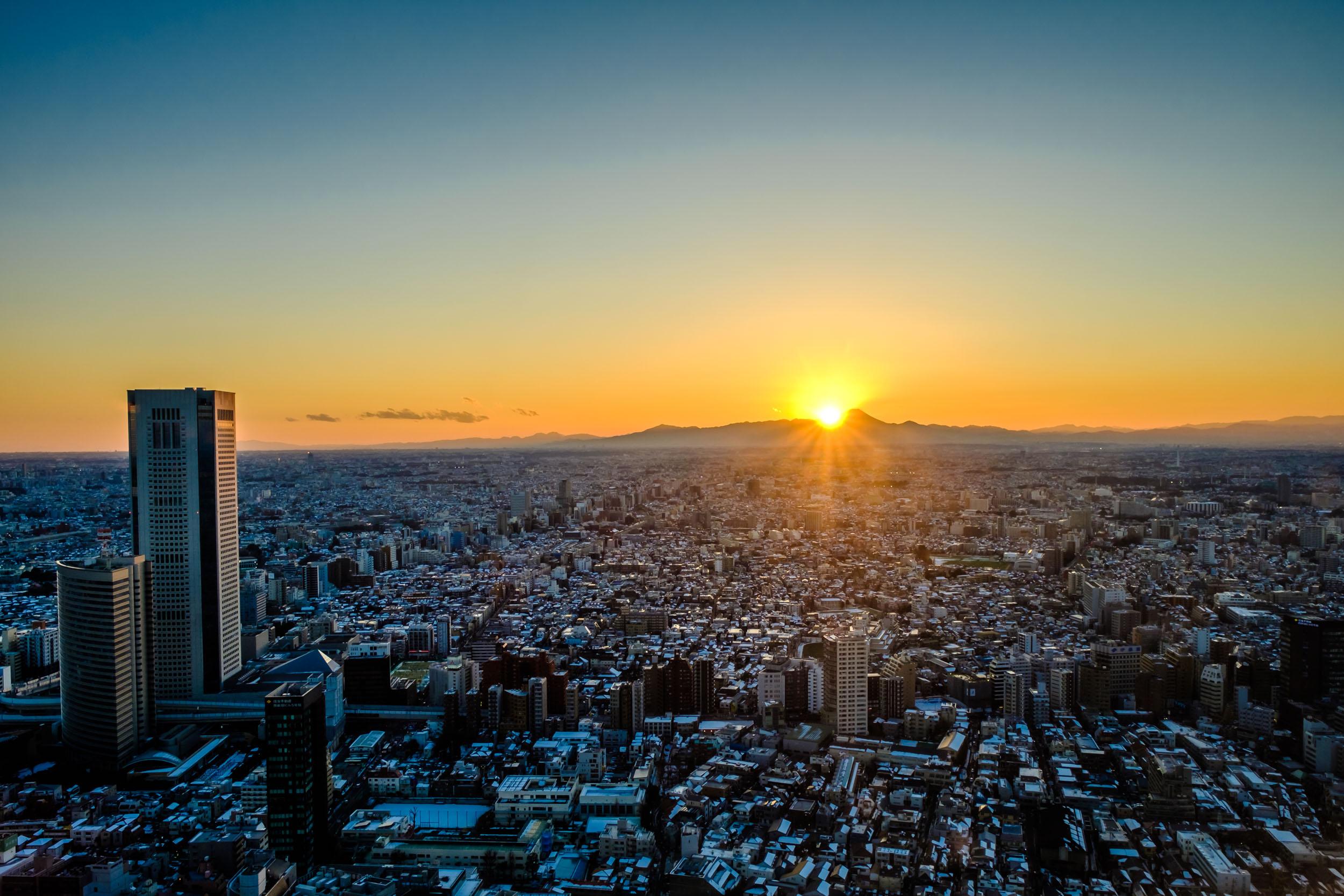 A Mount Fuji sunset