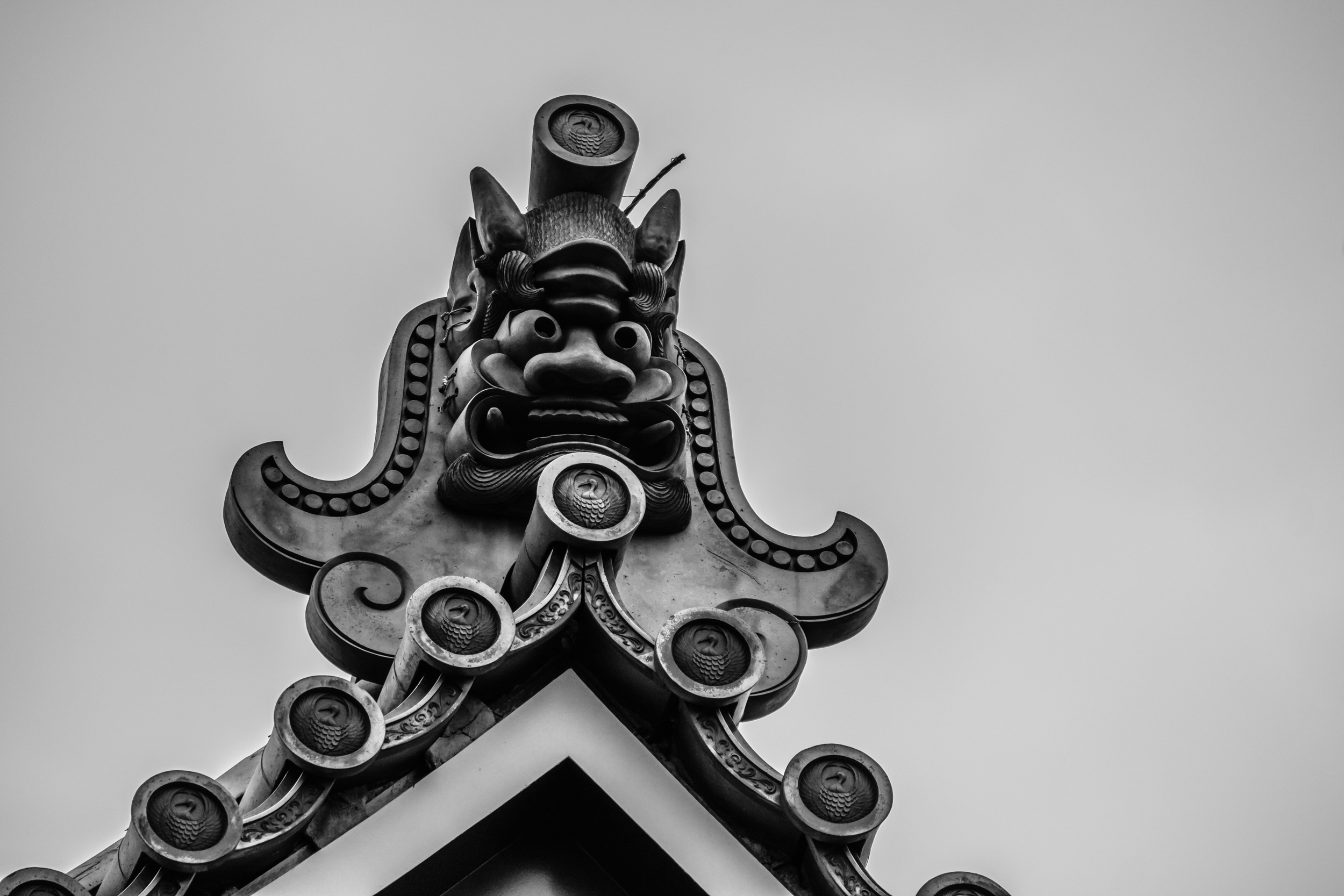 The roofs of Japanese temples can be a little scary ...