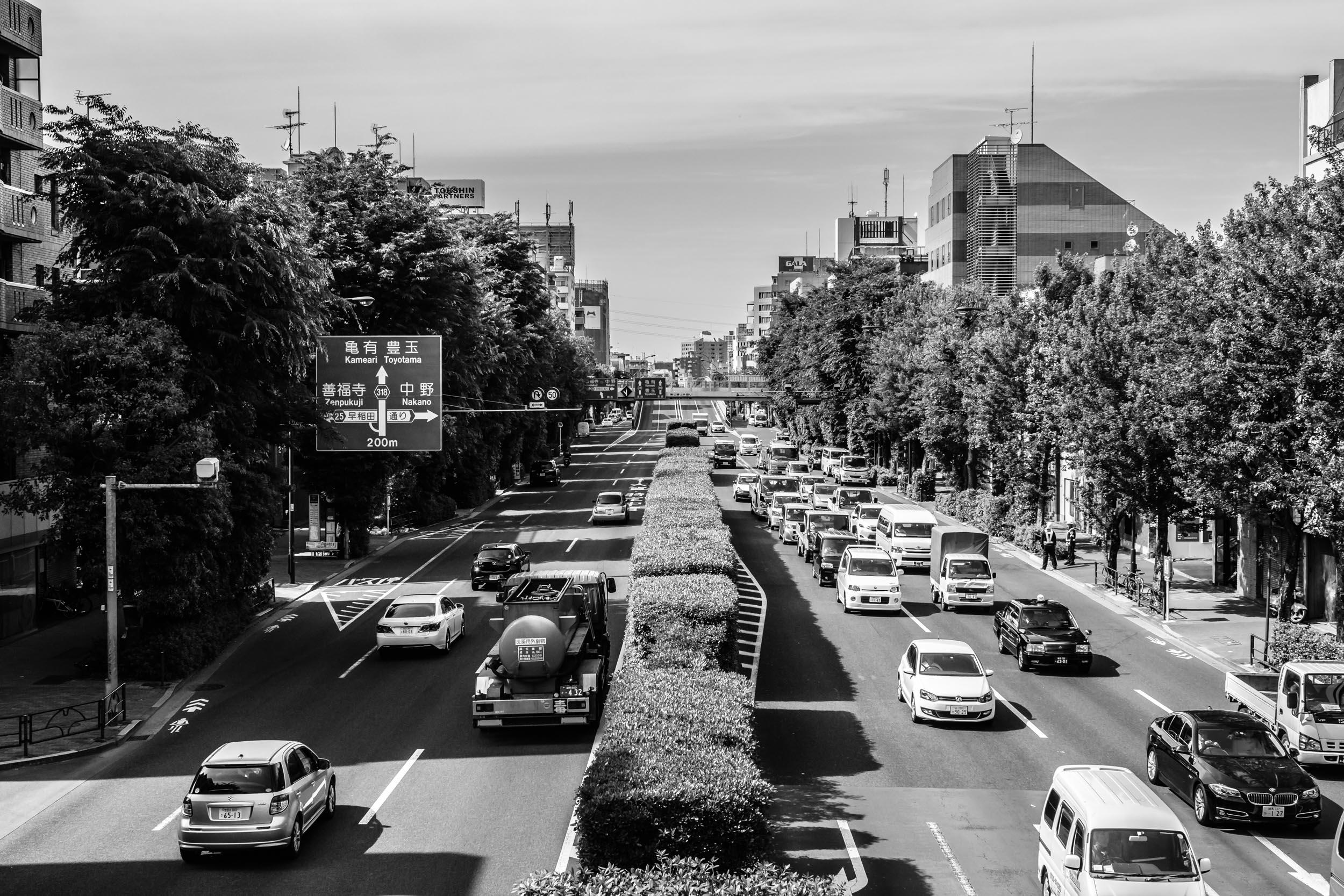 Kannana-dori, one of Tokyo's busiest roads, lies on the border of neighbouring Nakano and Koenji