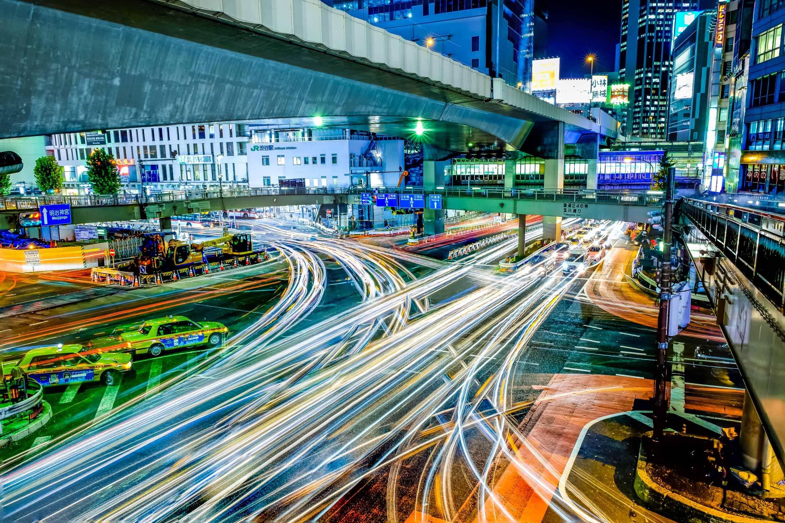 This intersection in Shibuya, in my opinion, is a great place to do some long exposure photography