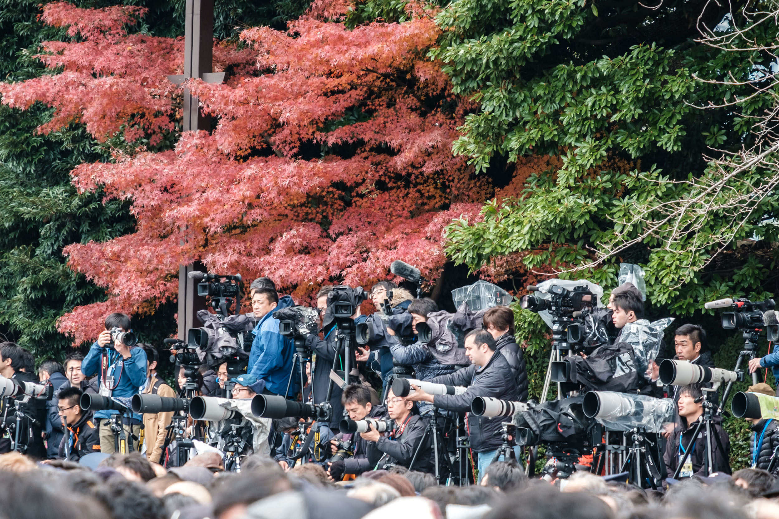 The media attention was intense, as always.