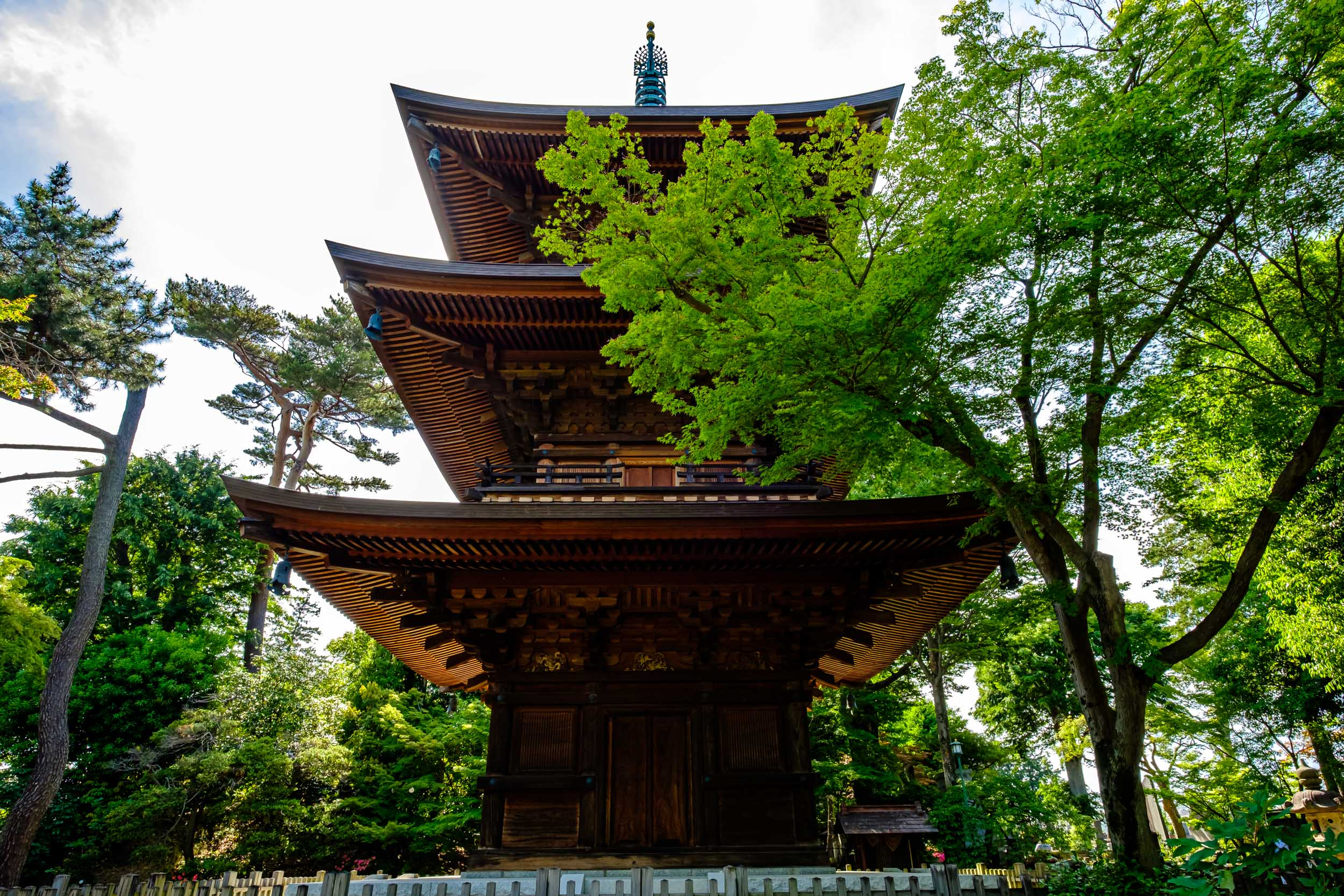 The pagoda at Gotokuji