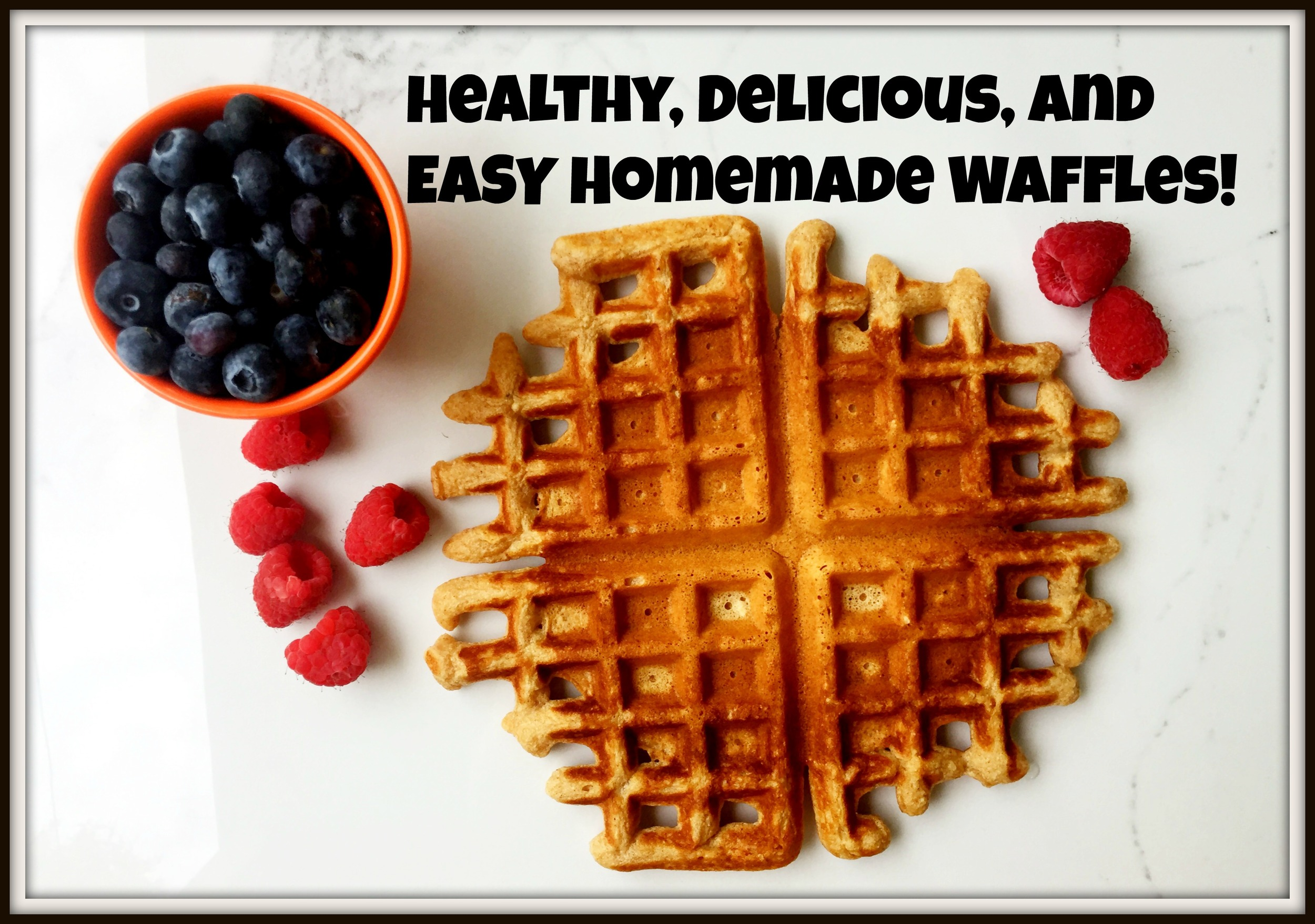 Looking for a healthy waffle recipe that still is flavorful, fluffy, and delicious? Look no further! This recipe is so easy to make. It's my new favorite Sunday breakfast!