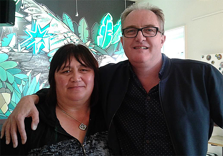 Sonia Hepi-Treanor with Simon Duffy