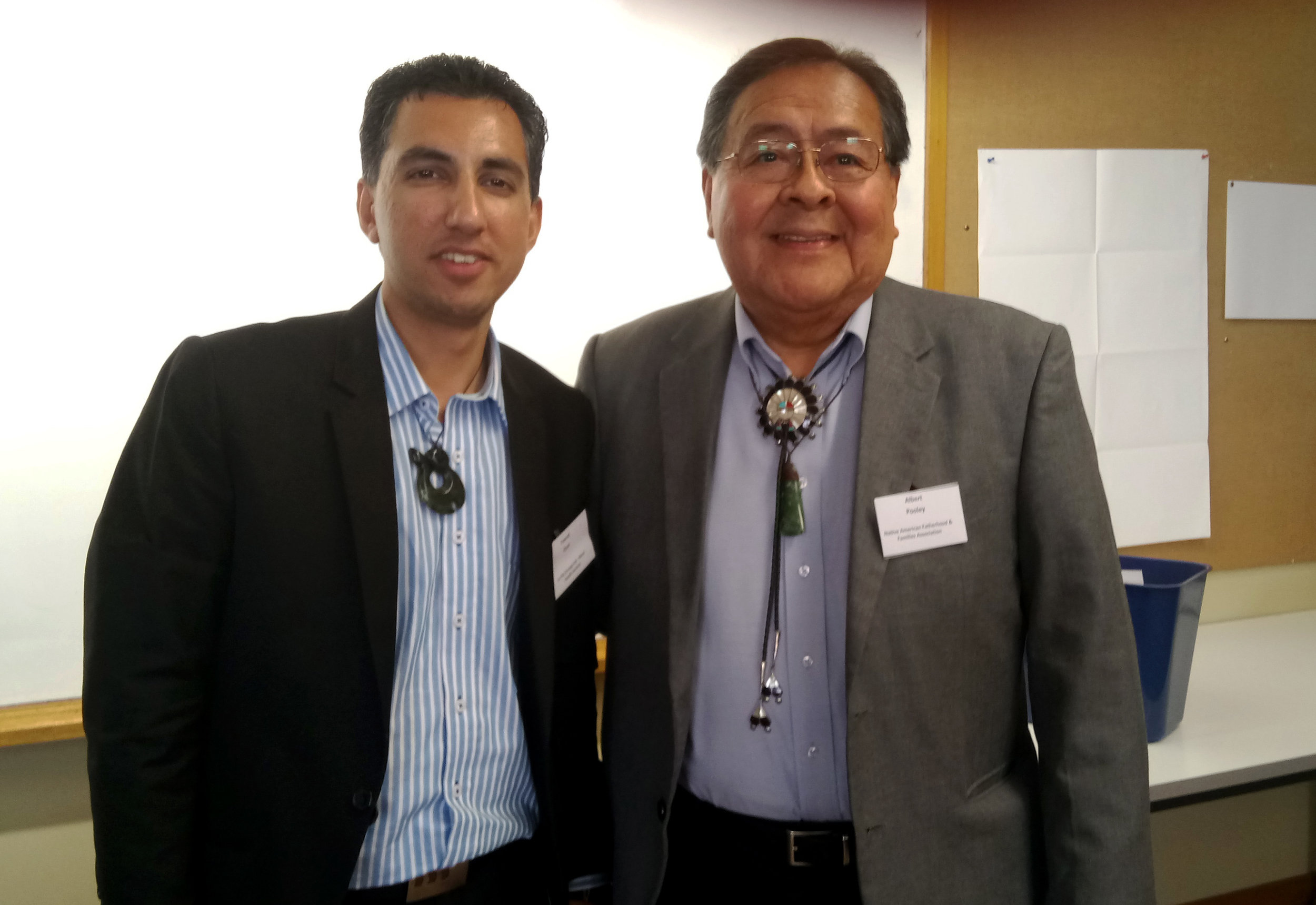 Fawad Shah with presenter Dr. Albert Pooley, Native American Family Therapist