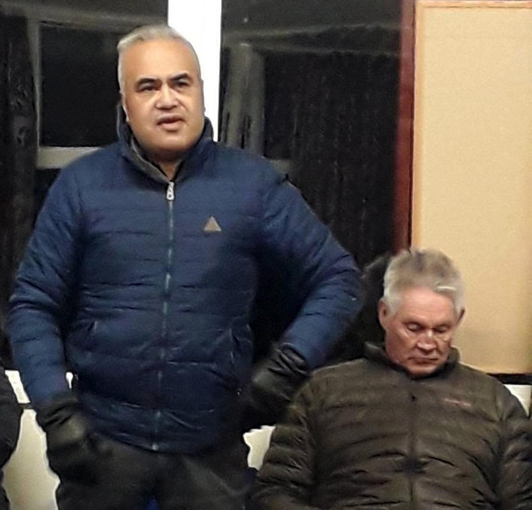 Te Piki Oranga board members, Kereopa Ratapu and Keith Palmer.